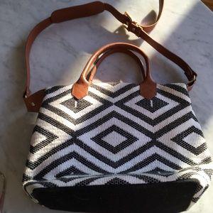 Tribe Alive Chevron Tribal Boho Leather Purse Bag
